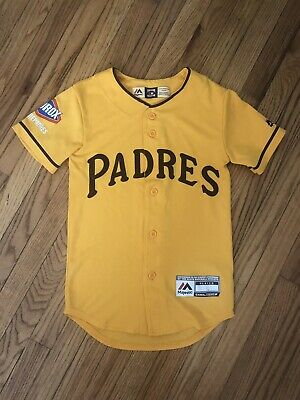 sale retailer eec14 16e86 SAN DIEGO PADRES JERSEY YOUTH KIDS MAJESTIC COOPERSTOWN COLLECTION Size  Small