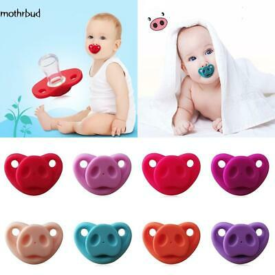 New Baby Infant Silicone Gel Cartoon Pig Nose Shape Safety Pacifier M5BD