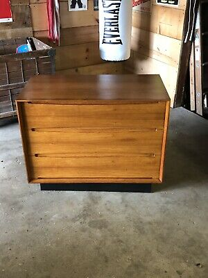 Vintage Dyrlund Furniture Triple Drawer Modern Dresser *Rare Arne Vodder Design