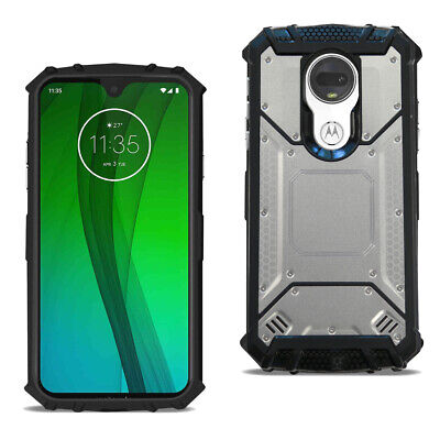 Reiko MOTOROLA MOTO G7 POWER Metallic Front Cover Case In Silver
