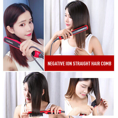 Multifunctional Quick Beard Straightener Hair Comb Curling Curler Show Cap Men D