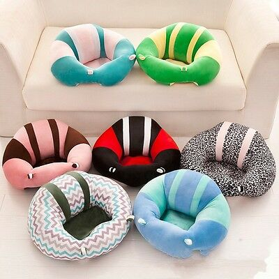 Cotton Baby Support Seat Soft Chair Cushion Sofa Plush Pillow Toys 11 Colors AU