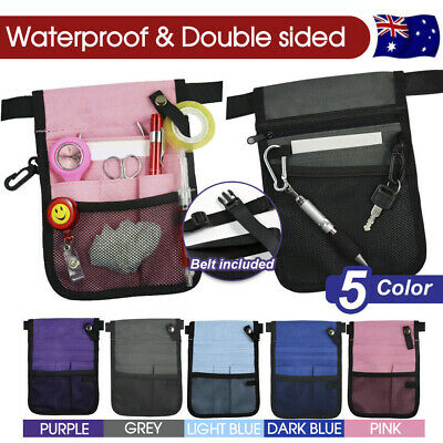 Nurse Pouch Extra Pocket Quick Pick Vet Agecare Bag with Belt Strap