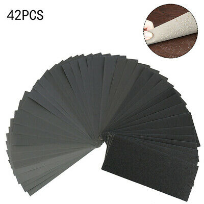 36/42pcs Emery Mixed Wet & Dry Waterproof Sand Paper 120-3000 Grit Sander Sheets