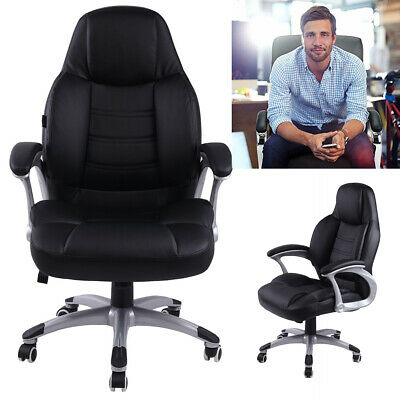 Heavy Duty Swivel High Back Big &Tall PU Leather Desk Chair Executive Ergonomic