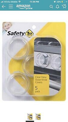72312 Safety 1st 5 Pack Clear View Stove Knob Hinged Covers 48409 Child Proof