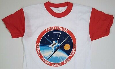 Nasa Vintage T-Shirt Space Shuttle Challenger Sts-7 Size L 1983 New Old Stock
