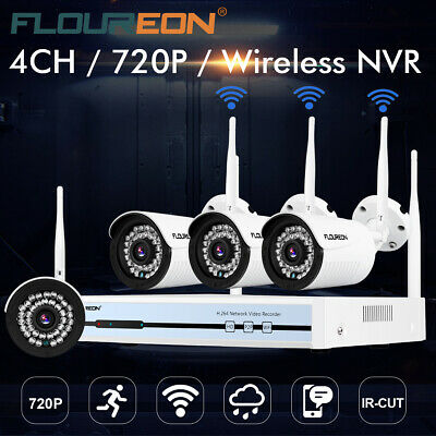 Floureon 4CH Wireless CCTV 1080P HD DVR Wifi 720PImperméAble IP Camera SéCurité