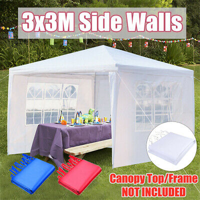 3x3m Gazebo Outdoor Wedding Marquee Party Event Tent Canopy Camping 3 Side Walls