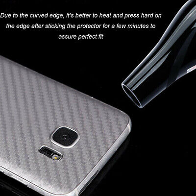 Anti-skid Carbon Fiber Back Protector Film For Samsung Galaxy S8 S9 S10 Note 8