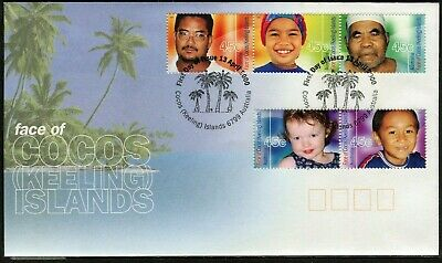 2000 Cocos (Keeling) Islands Face Of Cocos Set Of 5 FDC, Mint Condition