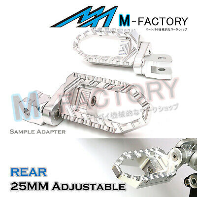For MV Agusta F4 / 1000R / S All Year SILVER 25mm Adjustable Rear Wide Foot Pegs