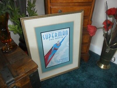 superman MOVIE  PICTURE POSTER FRAMED