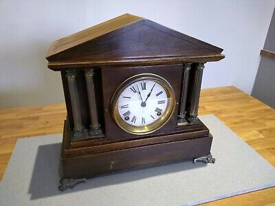 Antique mantle clock ansonia clock co. - carriage New York fire place decor