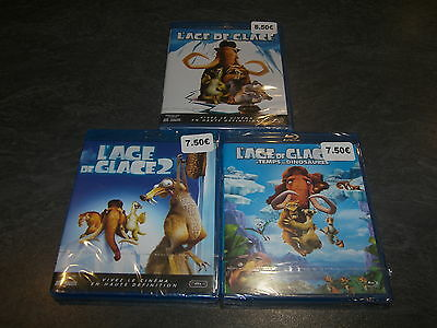 Blu-Ray L'age De Glace Trilogie 1/2/3 20Th Fox Neuf Emballe