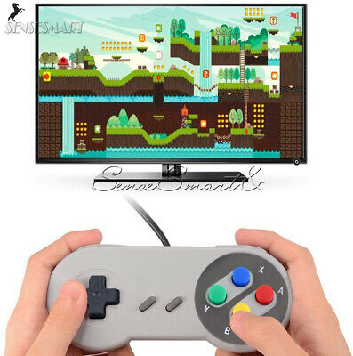 Wired USB Gaming Joystick SNES Controller Retro Joypad Gamepad For Nintendo
