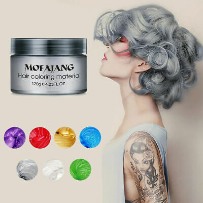 Temporary & instant Washout Hair Colour Wax by MOFAJANG 120g-7 COLOURS UK HOT