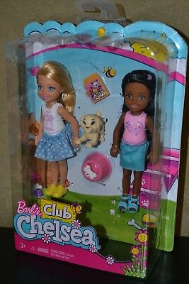Brand New Barbie Doll 2017 Club Chelsea 2 Pack Set Puppy Training