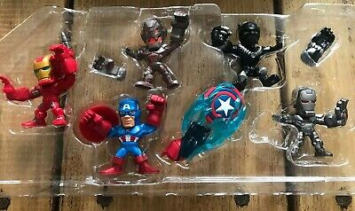 5 Small Marvel Captain America Civil War Figures Iron Man Black Panther Aveng