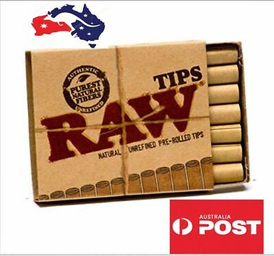2 X RAW Pre-Rolled Tips, Natural plant fibre paper+ Free gift + free shipping