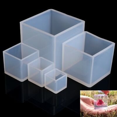 Silicone Pendant Mold Jewelry Making Cube Resin Casting Mould DIY Craft Tool