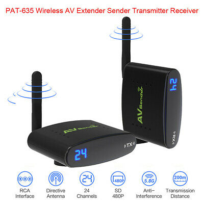 5.8GHz AV TV Sender Data Transmitter Receiver Wireless HDMI Video Audio Receiver