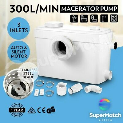 Waste Water Macerator Automatic Sewerage Pump Flush for Toilet Sink Shower