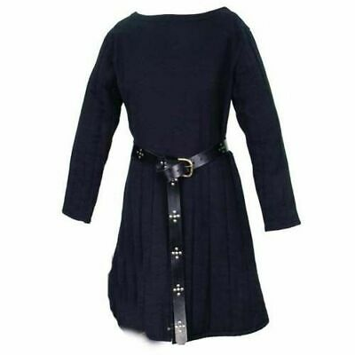 Beautiful Thick Padded Blue Gambeson Medieval Aketon Coat Armor cotton