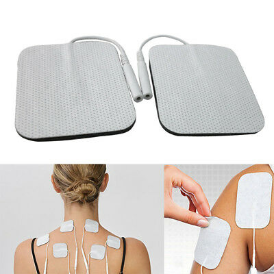 "20/40* Replacement Tens Electrode Pads EMS for Units 7000 3000 2x2"" White Cloth"