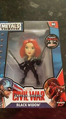 Marvel Black Widow Captain America: Civil War 4 Inch Diecast Metal Figure