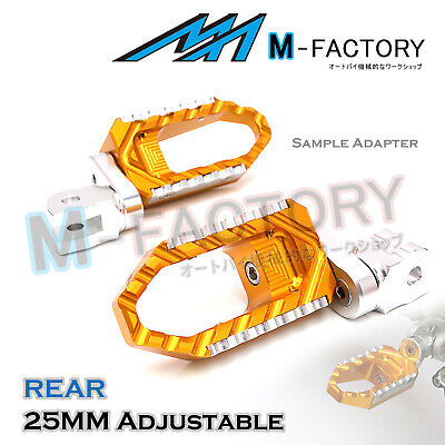 For MV Agusta F4 1000 2007+ GOLD 25mm Adjustable Rear Wide Foot Pegs