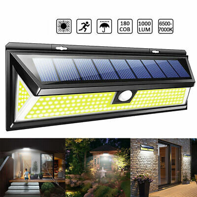 2000LM 180pc COB LED Solar Wall Light Outdoor Garden Security Lamp Motion Sensor