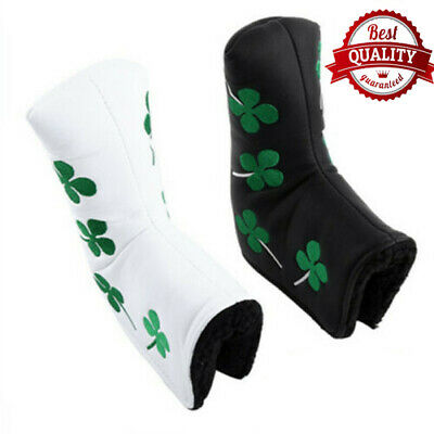 Golf Putter Head Covers Magnetic Skull Green Four Leaf Club Putter Covers Mallet