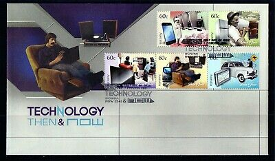 2012 Australia Technology Then & Now Set Of 5 First Day Cover, Mint Condition