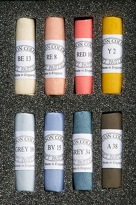 Unison Artist's Hand Made Soft Pastel Selection Sets of 8 Colours