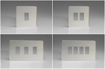 Varilight Polished Chrome Screwless Power Grid Faceplate and Power Grid Frame