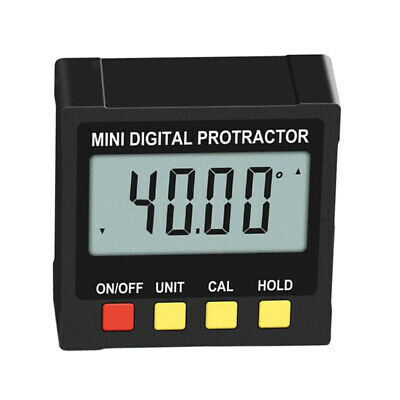 Precise 0.1° Digital Inclinometer Protractor with Clear LCD Display