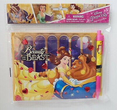 Disney Princess - Beauty & The Beast Deluxe Autograph Book Notebook & Pen Set