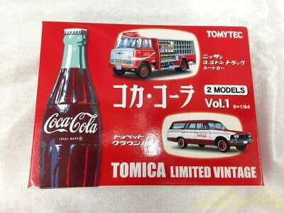 Tomica Limited Vintage 1/64 2 Models Nissan 3.5t Truck Crown Van Coca Cola NEW