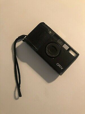 Ricoh GR1V Black 35mm Film Camera 28mm f/2.8 Lens with Ricoh Case & Instructions