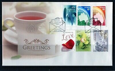 2013 Australia Greetings Set Of 6 First Day Cover, Mint Condition