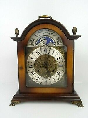 German Vintage Antique Mantel Shelf Mid Century Clock 8 day HERMLE movement
