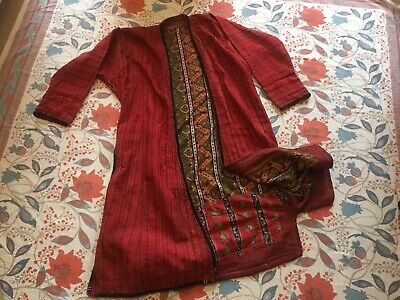 Antique Persian Wedding Robe Coat Pendant Coin Tribal Middle Eastern Textiles