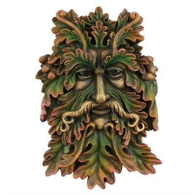 Green Man Face Plaque Garden Decor Wall Home Brand New Tm_36417