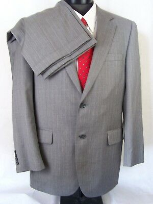 Jos. A. Bank Suit Light Gray Striped Wool Cashmere 41R