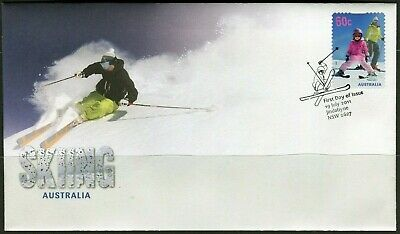 2011 Australia Skiing 60c Self Adhesive Stamp First Day Cover, Mint Condition