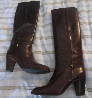 837bb6414d3 GUCCI - Woman s Leather Knee-high Boots - 39 1 2 or 8.5 -