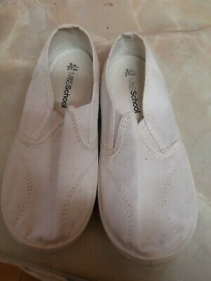 Marks & Spencer School Plimsolls White boys or girls Size 9 (infant)