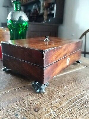 Georgian Regency Jewel Box Rare Early Desk Dressing Table Box
