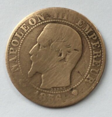 1856 Vintage Antique French France Coin Napoleon Iii Empereur